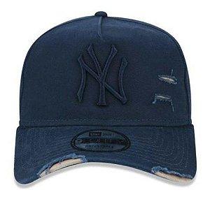 Boné New Era Destroyed 940 New York Yankees Azul Marinho