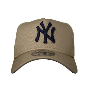 BONÉ NEW ERA 9FORTY A-FRAME ABA CURVA AJUSTÁVEL MLB NEW YORK YANKEES BASIC BEGE