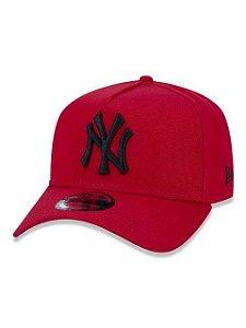 BONÉ NEW ERA 9FORTY A-FRAME ABA CURVA AJUSTÁVEL MLB NEW YORK YANKEES BASIC VERMELHO