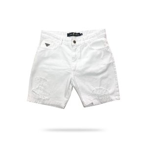 Short Haterz Jeans White Destroyed