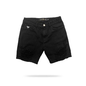 Short Haterz Jeans Black Destroyed