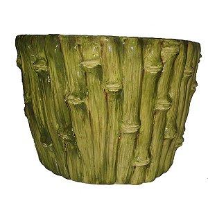 625 - Cachepot cerâmica bambu