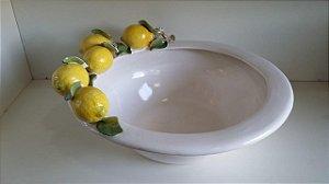 762 - Bacia Italiana com Galho de Limão H=23 cm, L= 39 cm, C= 51 cm