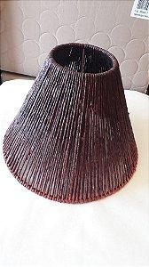 156 - Cúpula taboa palha marrom H= 36cm, D = 26 cm