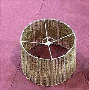 Pendente cone ou cúpula M em palha natural 35x45x25 cm