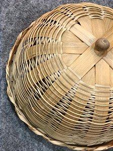 Boleira em bambu natural D=28 x H=15cm
