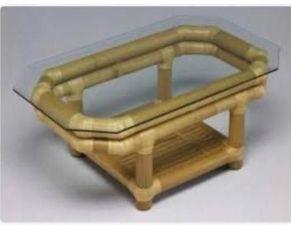 Mesa de centro em bambu natural 106x56x45