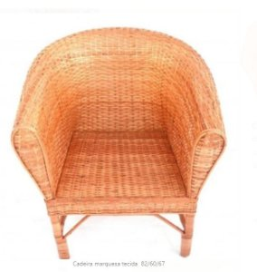Cadeira marquesa tecida  82/60/67