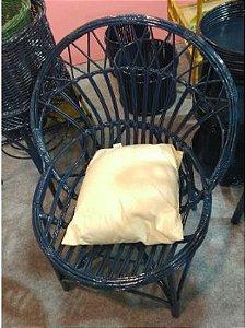 Cadeira  alba concha  Lisa azul marinho