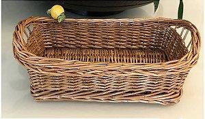 Porta pães cor natural sem alça  com limão siciliano