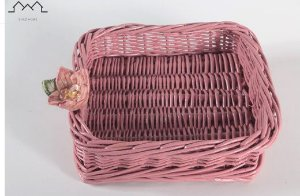Porta Guardanapo vime rosê com flor