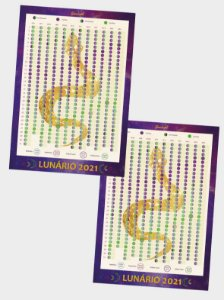 Lunário 2021 | Serpente Lunar kit com 2 unidades