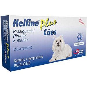 Helfine Plus Vermífugo Cães 10 kg 4 Comprimidos - Validade:30/10/2021