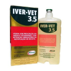 Iver-vet Biovet Ivermectina 3,5% 500 ml - Validade:30/10/2021