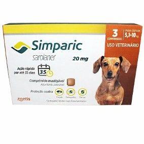 Simparic 20 mg 5 a 10 Kg 1 Comprimido