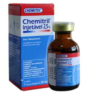 Chemitril 2,5% Injetável 20 ml