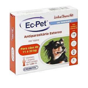 Ec-pet (Fipronil) 11 a 20 Kg 1,34 ml