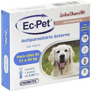 Ec-pet (Fipronil) 21 a 40 Kg 2,68 ml