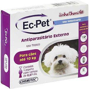 Ec-pet (Fipronil) até 10 kg 0,67 ml