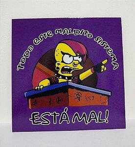 Placa Decorativa Lisa Simpson