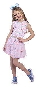 Regata Infantil Menina Princesa Rosa