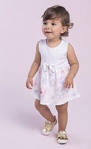 Body Vestido Bebê Menina Princesa Branco