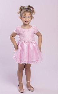 Vestido Bebê Menino Princesa Rosa