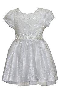 Vestido Bebê Menina Princesa Branco