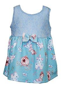 Body Vestido Bebê Menina Princesa Azul