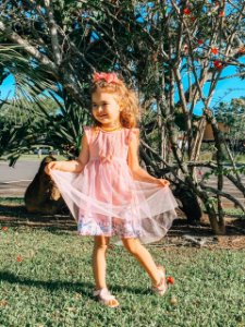 Vestido Bebê Menina Bailarina Rosa