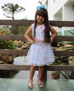 Saia Infantil Menina Princesa Branco