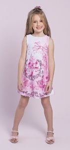 Vestido Infantil Menina Princesa Rosa
