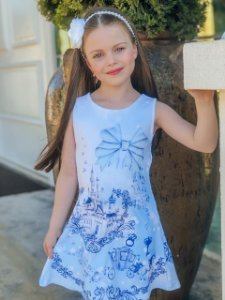 Vestido Infantil Menina Princesa Azul