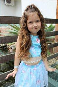 Regata Infantil Menina Princesa Azul