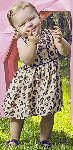 Vestido Bebê Menina Oncinha Preto