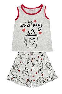 Conjunto Pijama Regata e Short Mescla