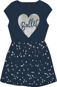 Vestido Infantil Menina Ballet Azul