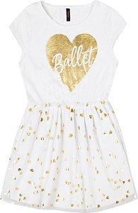 Vestido Infantil Menina Ballet Branco