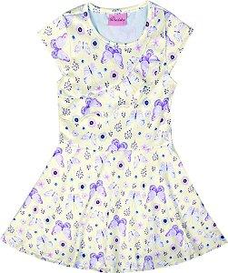 Vestido Bebê Menina Borboletas Bege