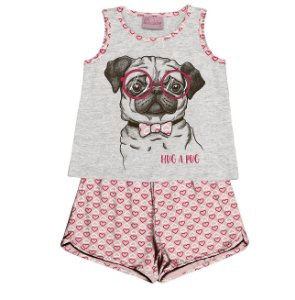 Conjunto Pijama Blusa com Shorts Bege