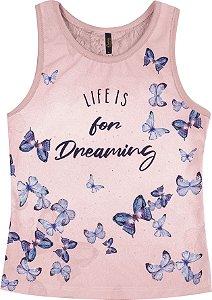 Regata Estampada Life is for Dreaming Rosa