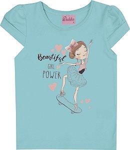 Blusa Infantil Menina Bailarina Azul