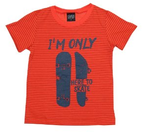 Camiseta Infantil Menino Here to Skate Laranja