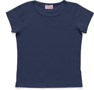 Blusa Infantil Menina Básica Azul