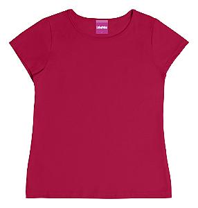 Blusa Infantil Menina Básica Vermelha