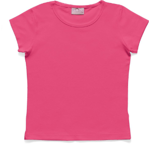 Blusa Infantil Menina Básica Rosa Pink