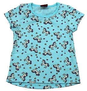 Blusa Infantil Menina Azul