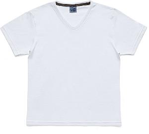 Camiseta em Decote V Infantil Menino Básica Branco