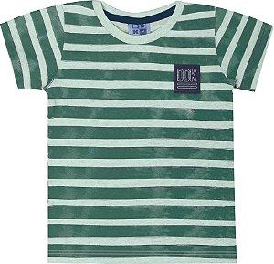 Camiseta Infantil Menino Listrado Verde