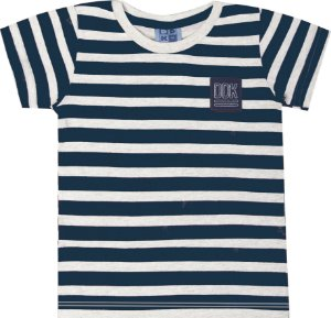 Camiseta Infantil Menino Listrado Branco